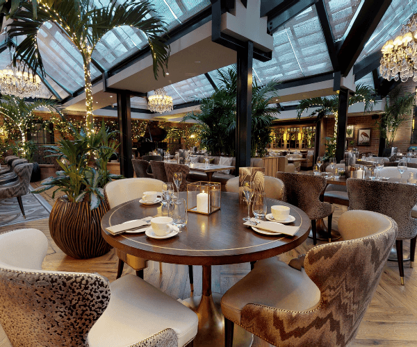 Palm Court restaurant for business and conference dining in Cheshire
