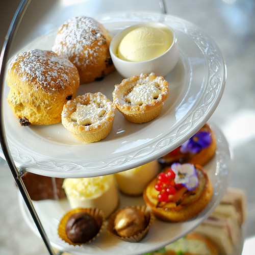 festive afternoon tea at Palm Court, Chester